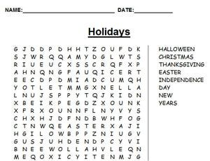 14 Places to Create Your Own Free Word Search Puzzles: Word Search Maker at A to Z Teacher Stuff