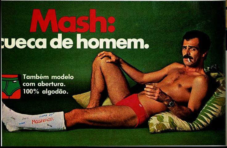 Propaganda das Cuecas Mash em 1979.