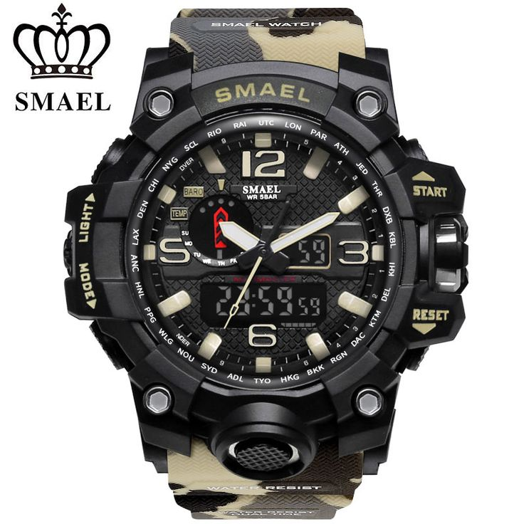2017 SMAEL Luxury Brand Camouflage Militar Style s-shock Watch Men Analog Date Male Silicone Wristwatches Clock Relogio Masculin //Price: $US $20.79 & FREE Shipping //     #hashtag1