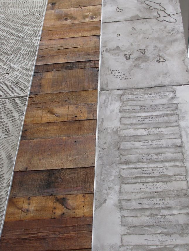 Pinterest the world s catalog of ideas for Hardwood floor concrete stamp
