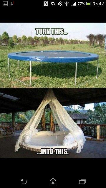 Aflagt trampolin
