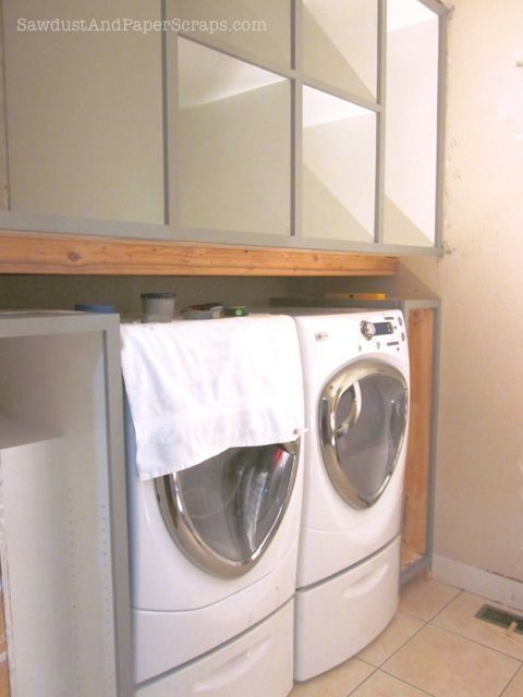 Building A Platform Above The Washer And Dryer   Making The Most Of Little  Space