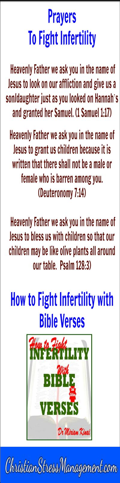 Spiritual warfare prayers to fight infertility