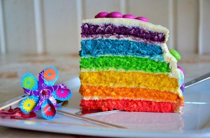 Hallo ihr Lieben! Ihr könnt euch gar nicht vorstellen, wie glücklich ich bin, endlich einen eigenen Post für die Regenbogen-Torte schreiben zu können. Und ein bisschen stolz bin ich auch. =) Mir war bei diesem Post sehr wichtig, dass er nicht nur die schöne fertige Torte präsentiert,