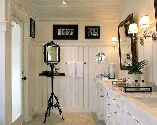 cottage modern eclectic bathroom los angeles tommy chambers interiors inc - Eclectic Bathroom Interior