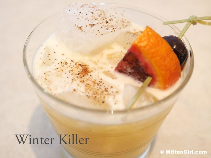 A cocktail to kill off the winter blahs - dark rum and tropical mixers