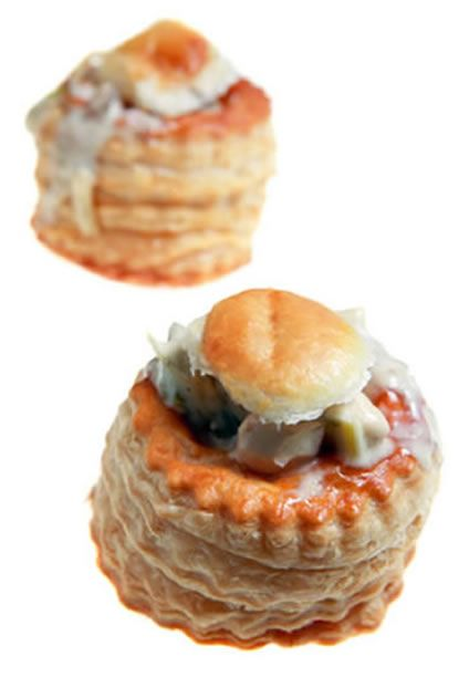 "The ""Vol Au Vent"" if you were at a function where there was flock wallpaper, there would be a couple of plates of these on a tressel table somewhere in the room."