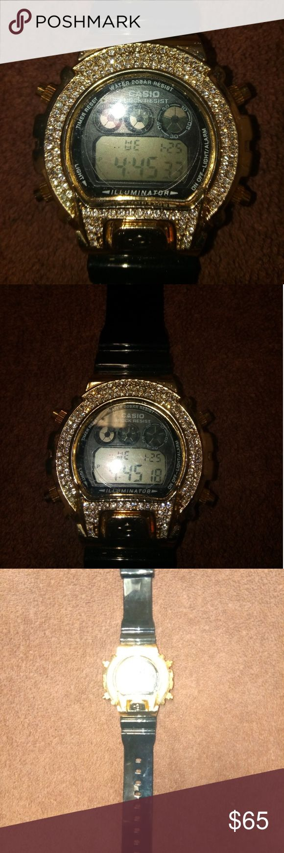 G Shock Watch Iced Out G Shock Watch Iced Out New.                                        Very Nice.Great Christmas Gift casio Accessories Watches