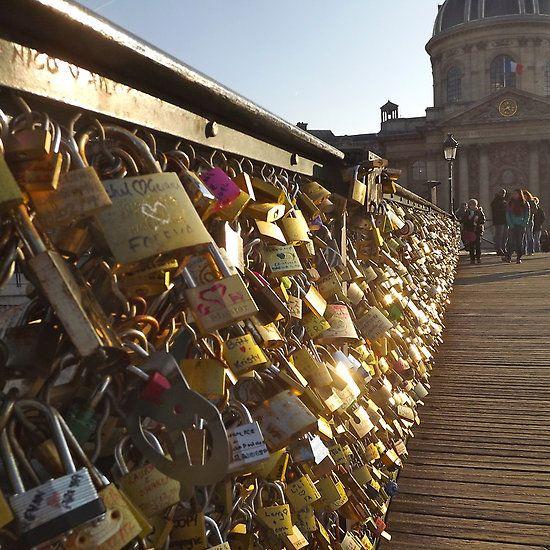 Paris Pont des Arts sunset
