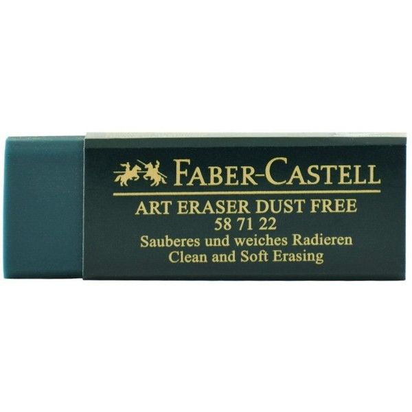 Faber-Castell Green Dust-Free Eraser ($3.94) ❤ liked on Polyvore featuring home, home decor, office accessories, faber castell pencils, green pencil and faber castell eraser