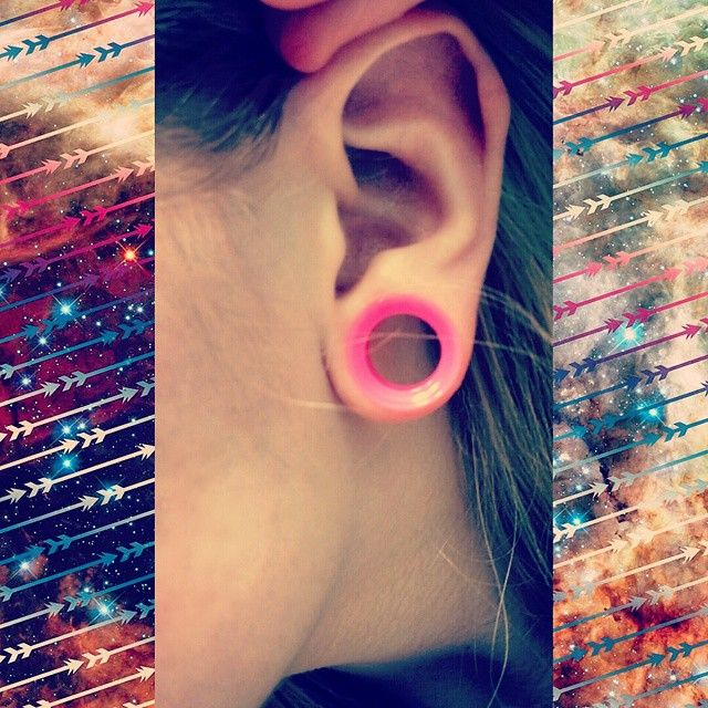 Pink Silicone Tunnel | Body Candy Body Jewelry #bodycandyfans