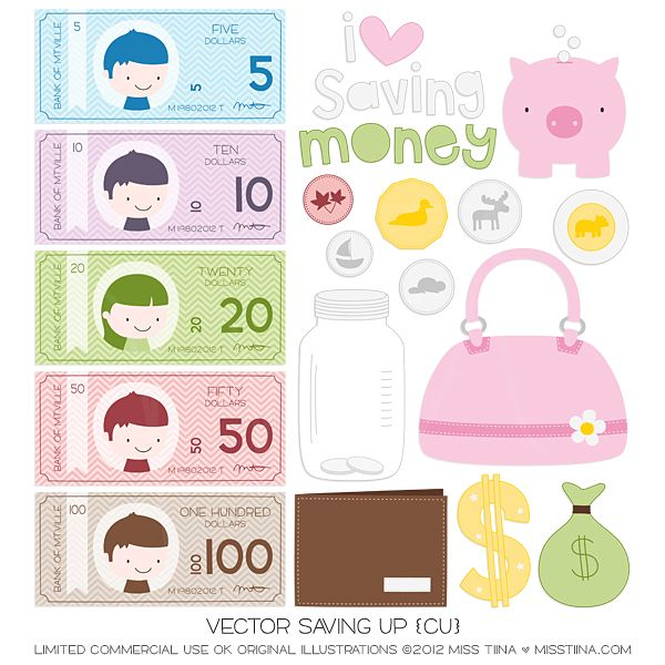 NEW Vector Saving Up + FREE Printable Play Money!