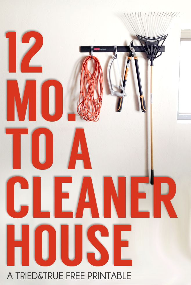 Organize housework with this easy 12 Month Cleaning Schedule and #FastTrack! Free printable calendar included. #pmedia #ad