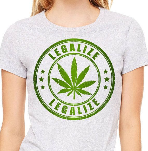 Cannabis leaf legalize stamp tee legalize shirt Women's