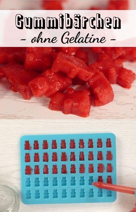 Für die süßen Erdbeer-Bärchen brauchst du nur 3 Zutaten
