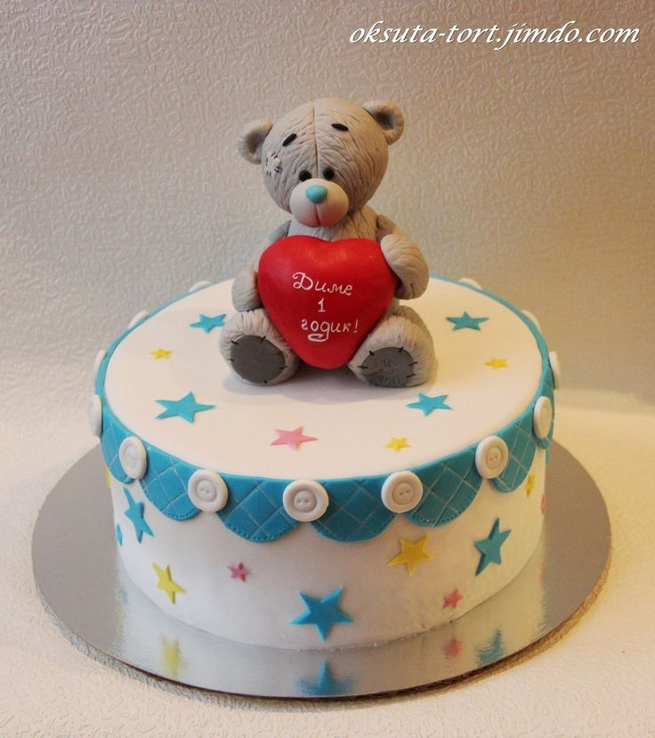 Фото торт с мишкой