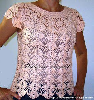 * Pérolas do Crochet: Blusas de crochet