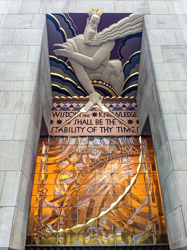 Rockefeller center art deco and in new york on pinterest for Deco new york