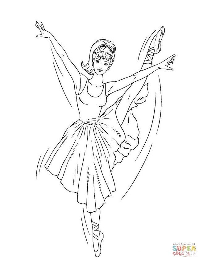 Barbie Ballerina Colouring Pages To Print Di 2020