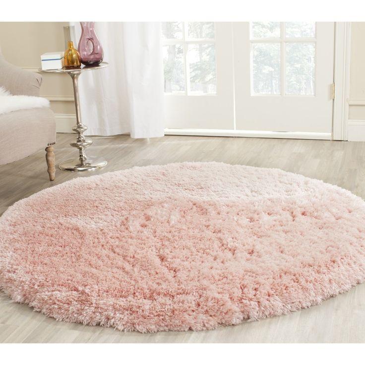 Safavieh Handmade Arctic Shag Pink Polyester Rug (5u0027 Round)
