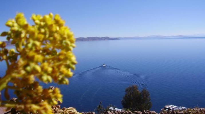 Udsigt over Titicacasøen