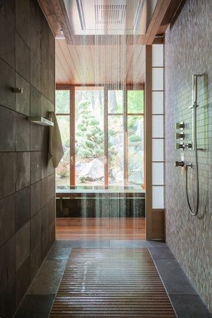 Contemporary Master Bathroom with Shoji screen door, Bathtub, Master bathroom, Shower, no showerdoor, Standard height