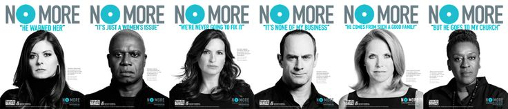 Loving the No More campaign and have so much respect for the celebrities who stepped up to be part of the PSA