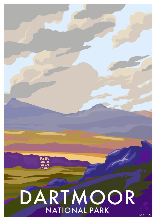 Dartmoor Vintage Style Travel Poster Available At Www