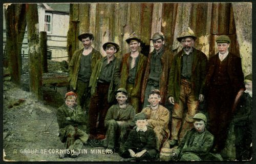 A Group of Cornish Tin Miners, East Pool Mine, c.1905-10  E S [Pictorial Post Card Co Ltd, Empire Series] (1362)