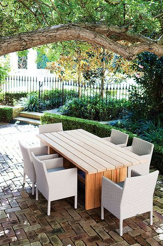 Plank table with Romy dining chairs  www.robertplumb.com.au