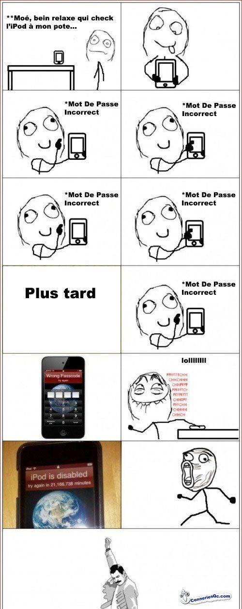 Tour à faire sur un iPod ou iPhone