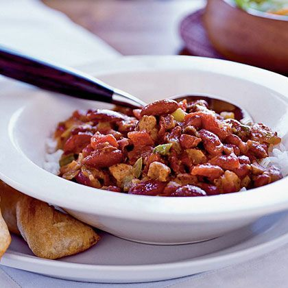 Cajun red beans and rice.