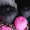 Paint your pumpkin a favorite color and then sprinkle matching glitter on top for a pretty display!: Pumpkin Ideas, Parties, Pink Pumpkin, Glitter Pumpkin, Pumpkins, Halloween Pumpkin, Paintings Pumpkin, Black Glitter, Pink Black
