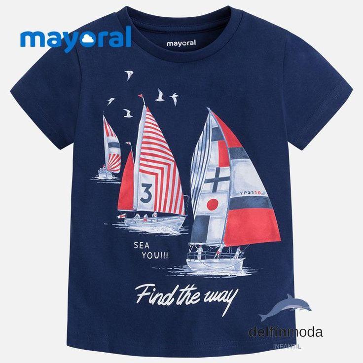 Camiseta de manga corta MAYORAL para niño veleros