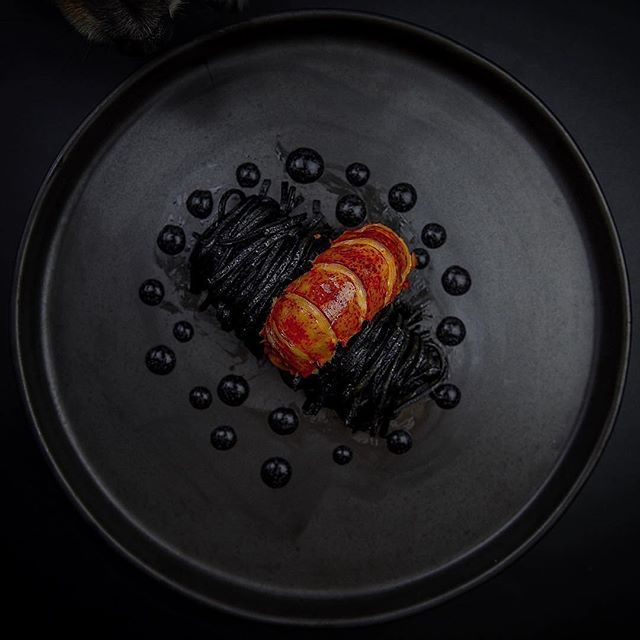 | Squid ink pasta, butter lobster, inked mozzarella cheese cream | By one of my favorit pages @snowcology_