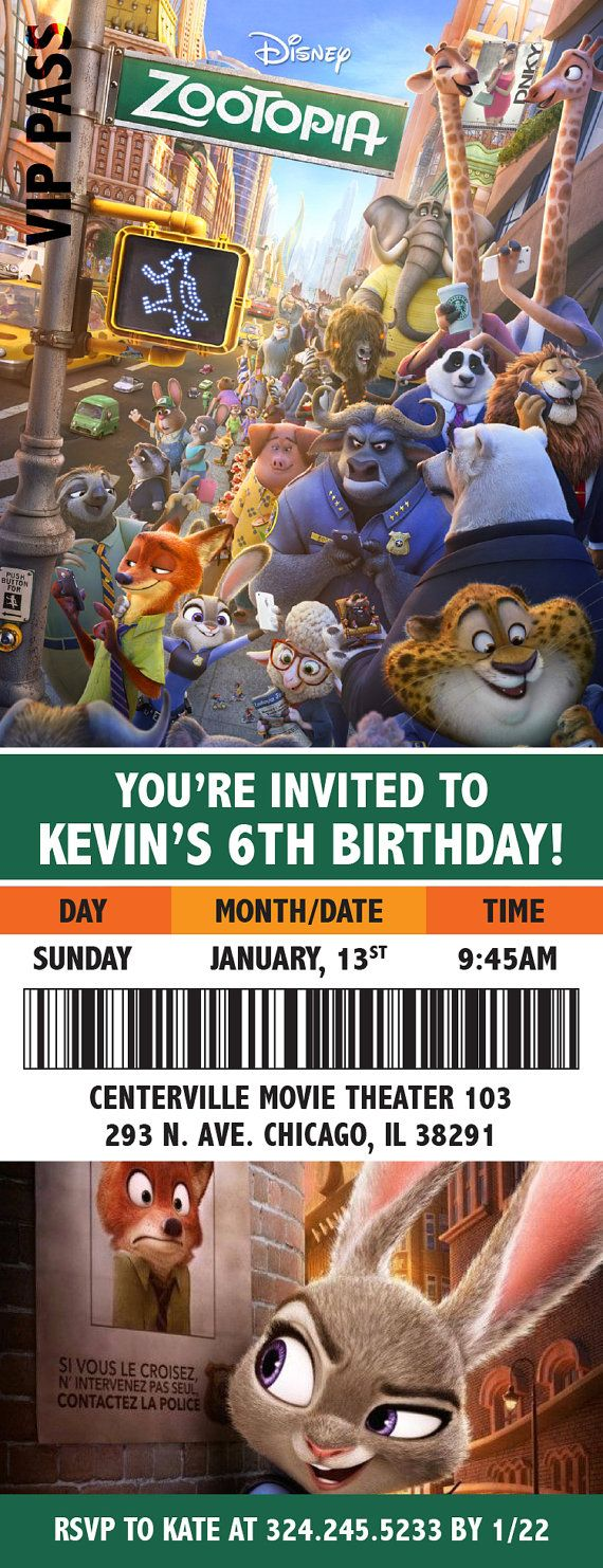 Zootopia Movie Themed Birthday Party by BohemianBungalow1986