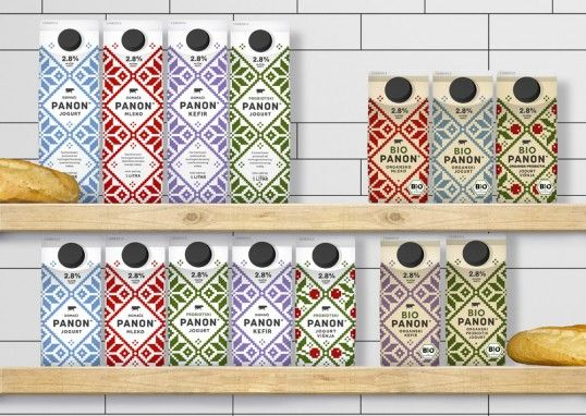 Panon dairy products by Peter Gregson Studio