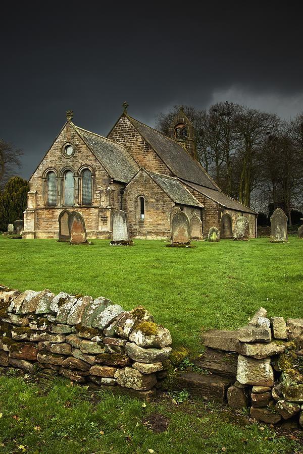 ✯ An Old Church Under A Dark Sky Northumberland, England