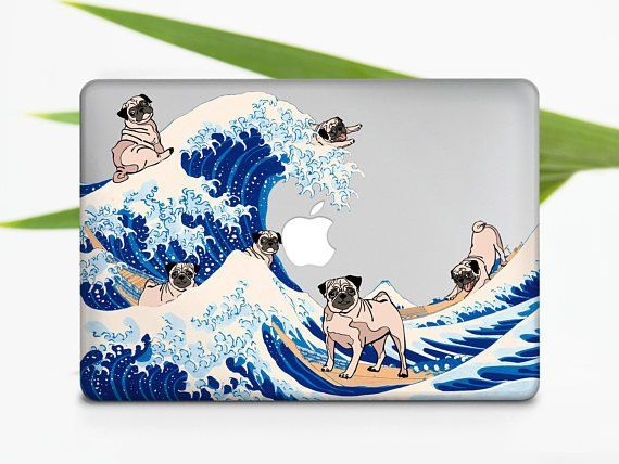 Cute Pug Art Design Hard Plastic Case Cover Macbook Pro Retina Air 11 12 13 15