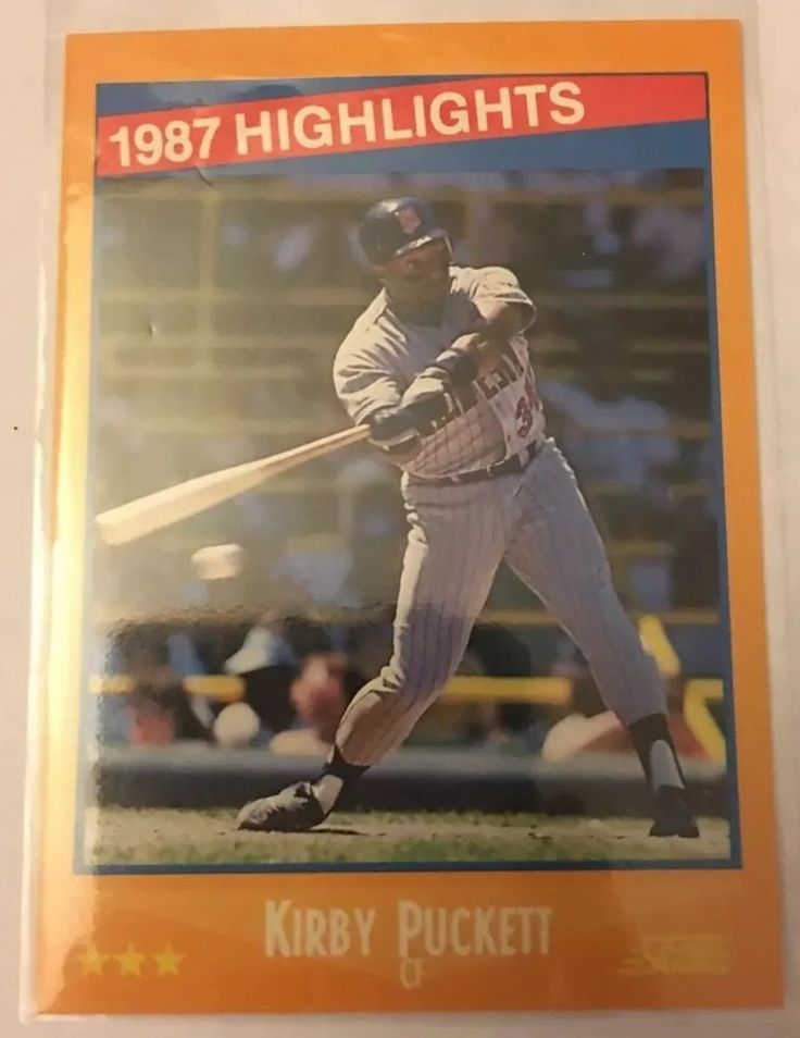 1988 Score 87 039 Highlights Kirby Puckett 653 Twins Near Mint Combined s Amp H | eBay