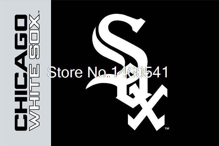 Чикаго Уайт Сокс товарный знак флаг 3ft x 5ft Полиэстер MLB чикаго Уайт Сокс Баннер Летающий Размер № 4 144*96 см QingQing флаг