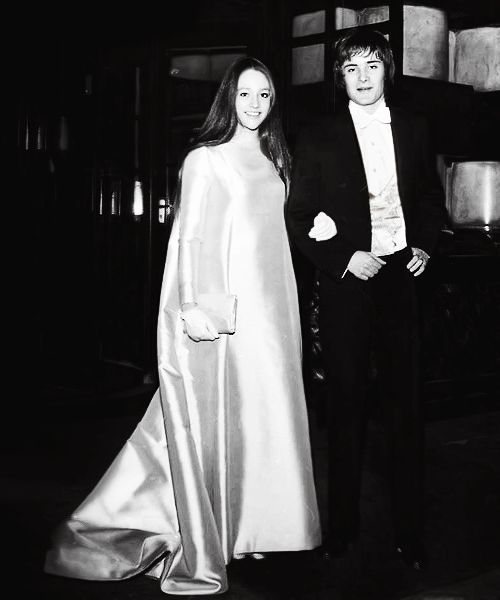 Olivia Hussey and Leonard Whiting at the Romeo & Juliet premiere held during the Royal Film Performance gala (Odeon Theatre, London, March 4th 1968)