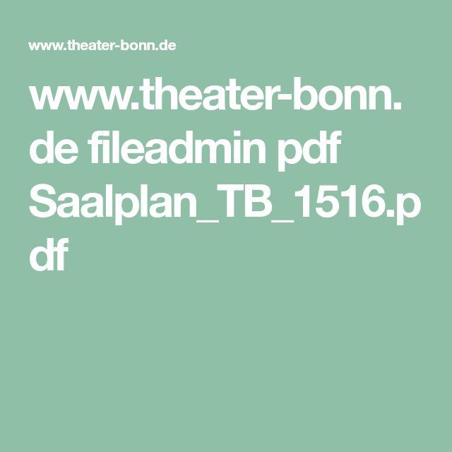www.theater-bonn.de fileadmin pdf Saalplan_TB_1516.pdf