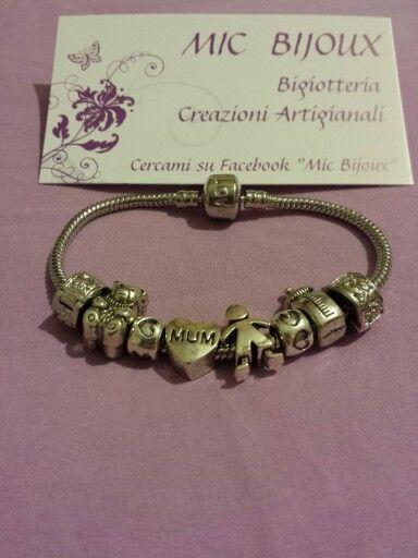 Simil Pandora personalizzabile ♡ per la mia cuginetta Gaia che è diventata oggi mamma del piccolo Cesare