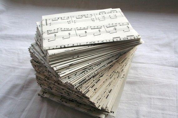 sheet music becomes envelopes!