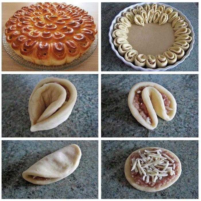 Цветы из теста на пирог фото рецепт
