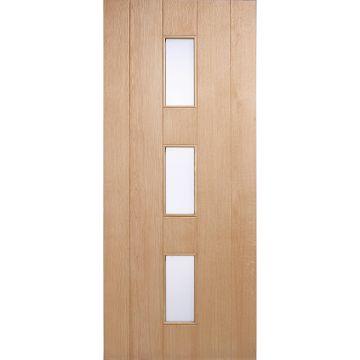 Image of Copenhagen External Oak Door - Frosted Double Glazing