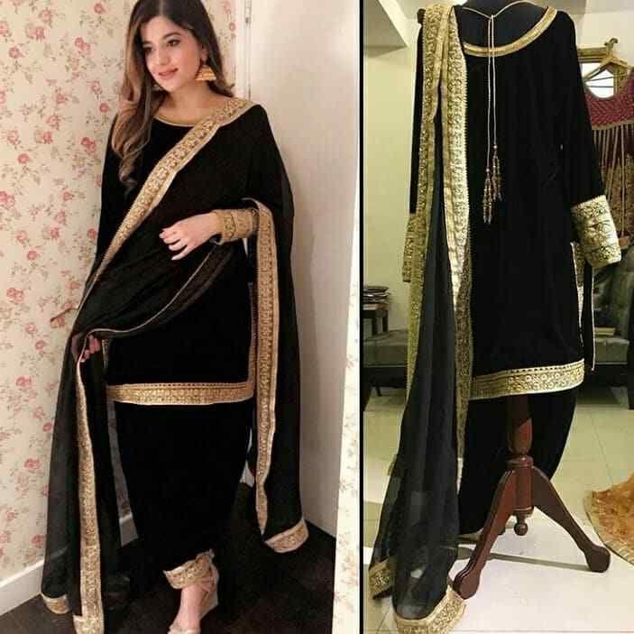 c584f3dcaf velvet kameez punjabi patiala salwar party wear indian pakistani stitched  suit