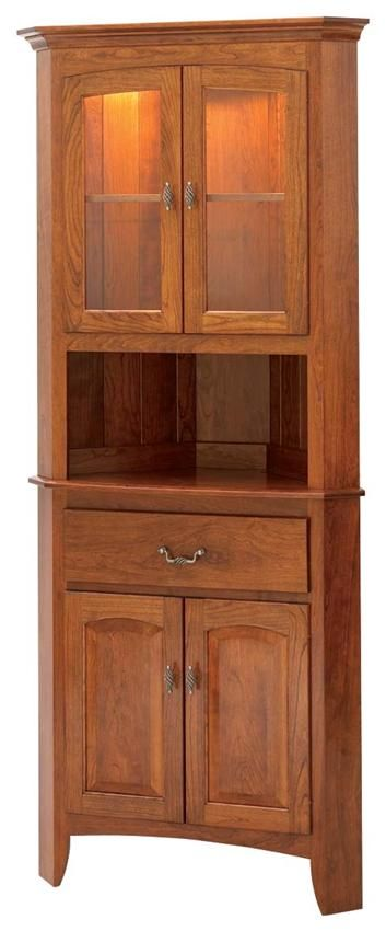 "Manchester 25.5"" Hardwood Corner Hutch - Keystone Collection"