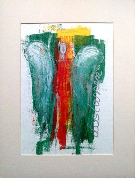 Acrylmalerei – Abstrakter Engel Acrylicmalerei – ORIGINAL- – ein Designerstück von Shirdi bei DaWanda
